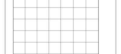 2cm Grid Lines Template