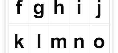 Alphabet a-t Template