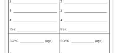 Boys Relay Teams Swimming Carnival Template