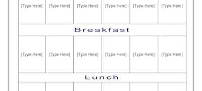 Camp Timetable Template