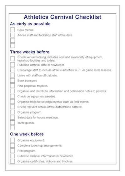 checklist-p1-athletics-carnival