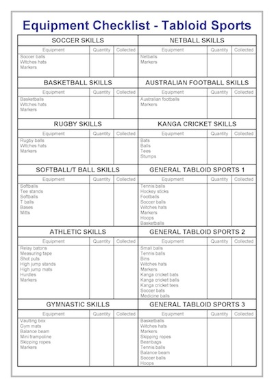Equipment List Template  TvsputnikTk