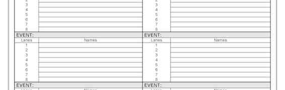 Finalists Sheet Swimming Carnival template
