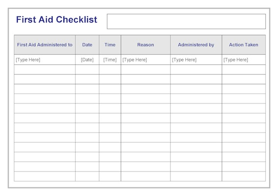 first-aid-checklist