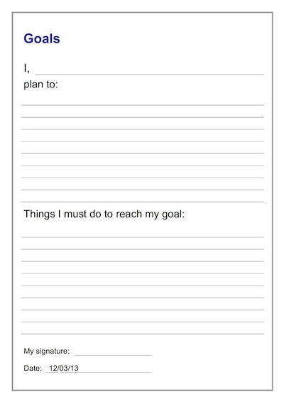 Student Contract Template – Goal Setting