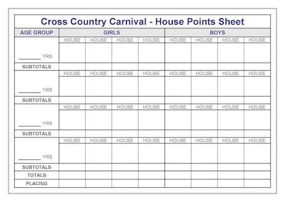 house-points-sheet-cross-country-carnival