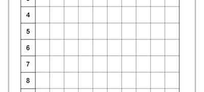Multiplication Grid Template