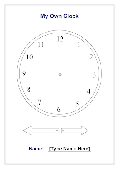 My Own Clock Time Template
