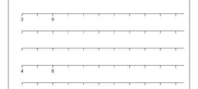 Math - Number Lines Template