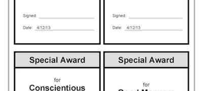 Special Award Template