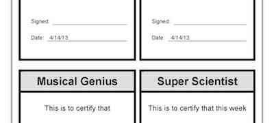 Sports Writing Music Super Scientist Awards Template
