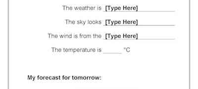 Today's Weather Template